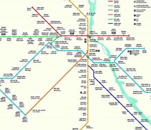Delhi Metro Routes